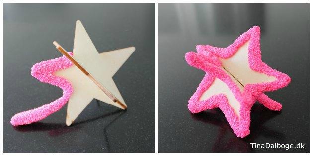 3D stjerne i træfiner med foamclay