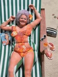 bodypaint - kvinde i bikini
