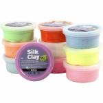 Se udvalget af silk- og foam clay her: