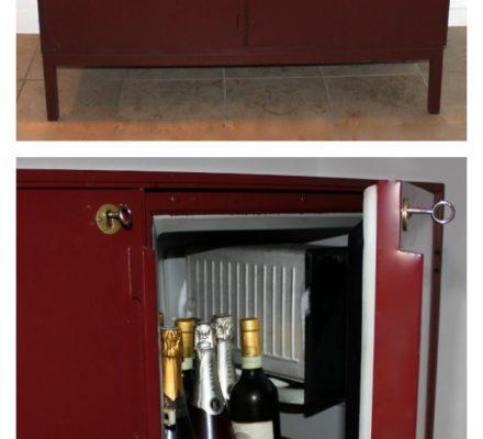 barskab med køleskab