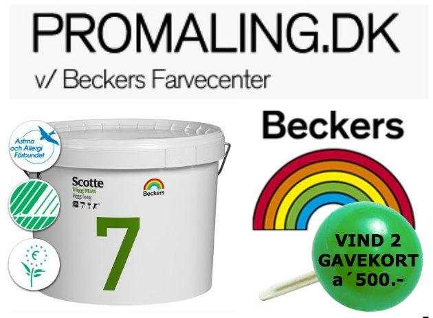 Beckers Allergivenlig maling fra Promaling.dk