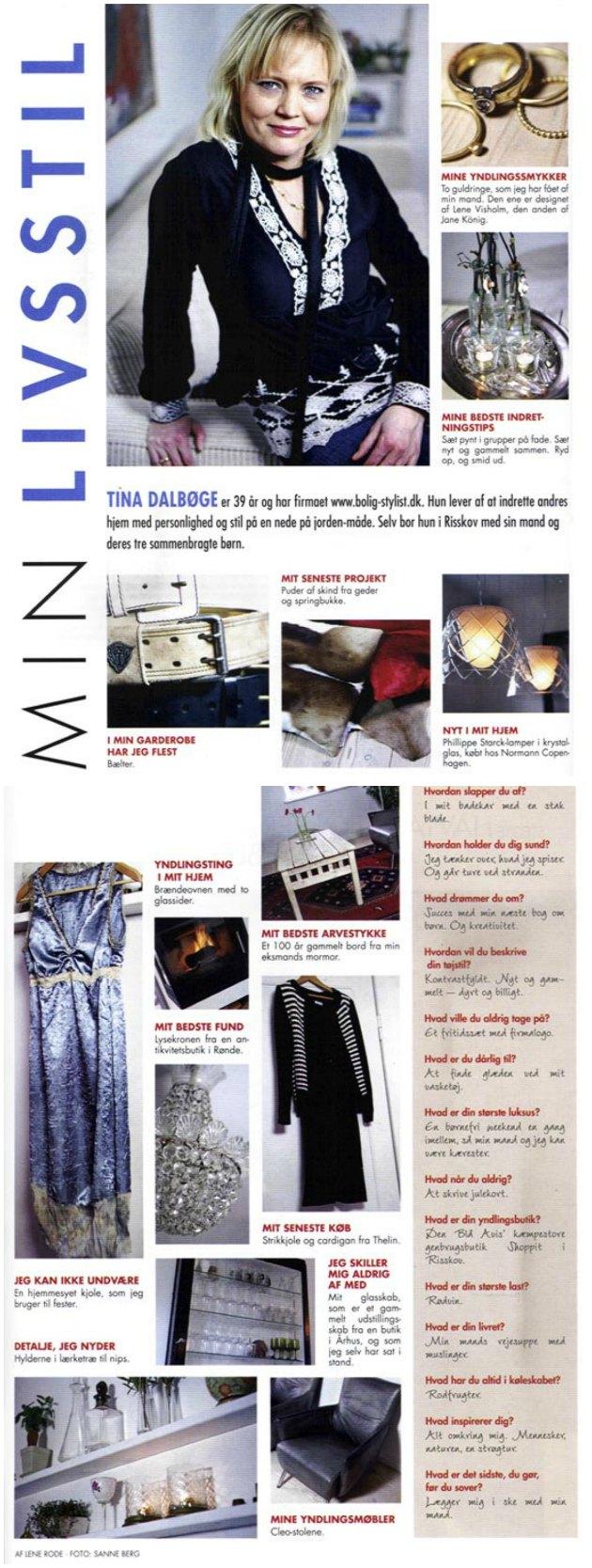 Artikel med kreative blogger Tina Dalbøge