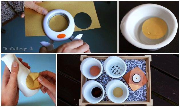 Colordeco i cirkler og bogstaver til glas og porcelænsdekoration