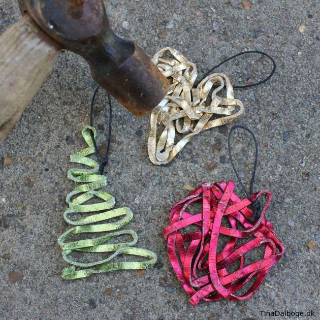 Ide til hvordan man kan lave julepynt til juletræet i alutråd