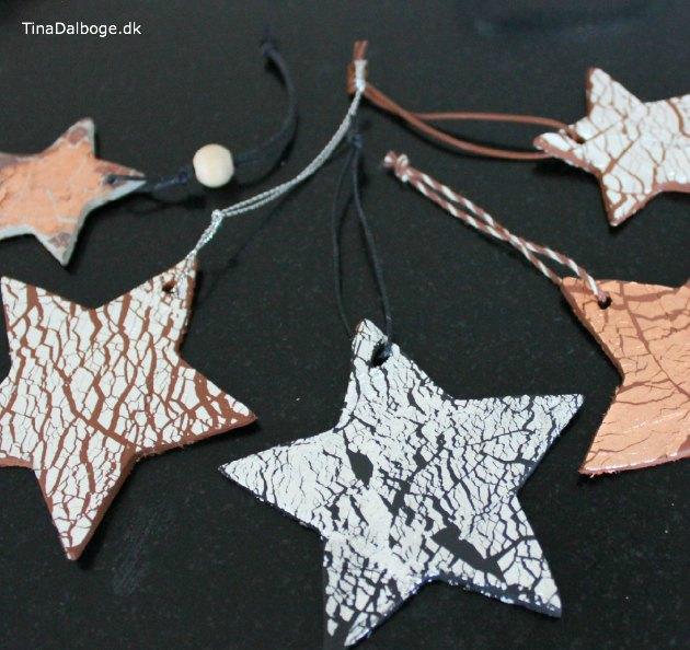 DIY stjerner til julepynt af ler og bladmetal