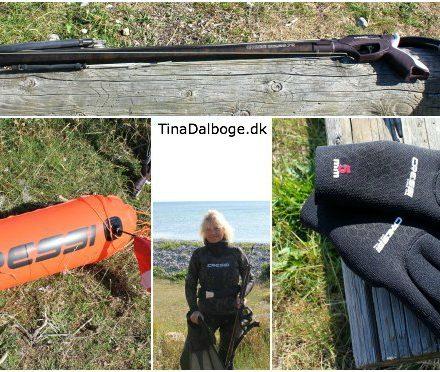 Harpun, bøje, hansker, maske, snorkel - udstyr til UV-jagt fra Søsport Import - billeder på Tina Dalbøges blog