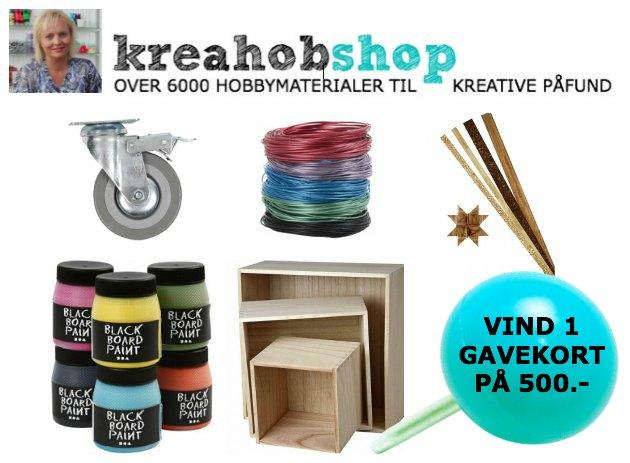 Hobbyartikler fra Tina Dalbøge's kreahobshop med over 6000 hobbymaterialer og kreative påfund