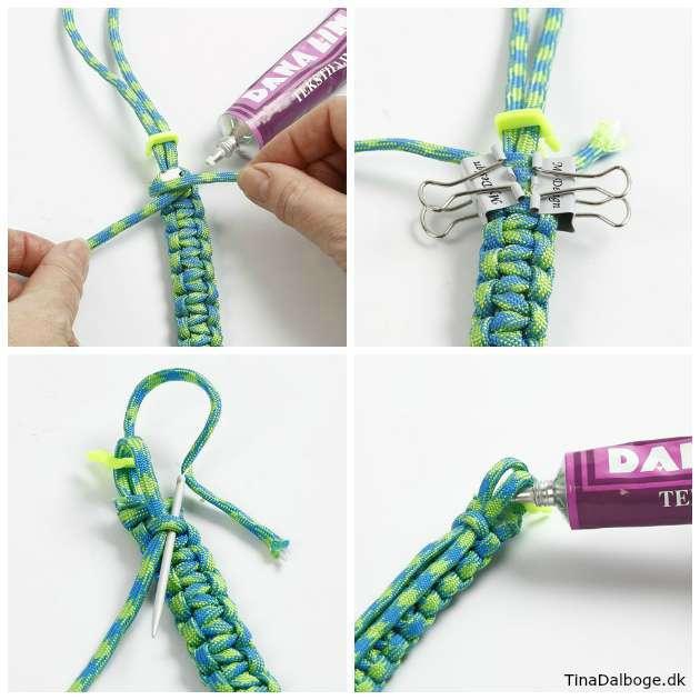 Lav en pæn og holdbar afslutning på dit knyttet armbånd