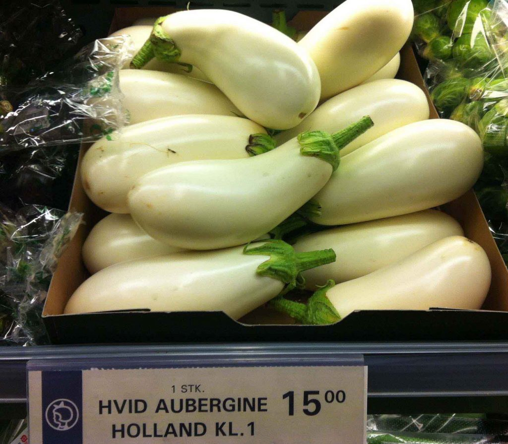 hvid aubergine