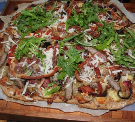 pizza med jordbær