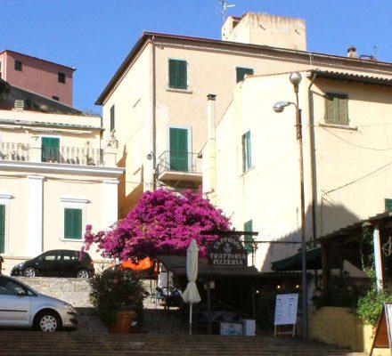 Restaurant i byen Portoferrier, Elba, Italien