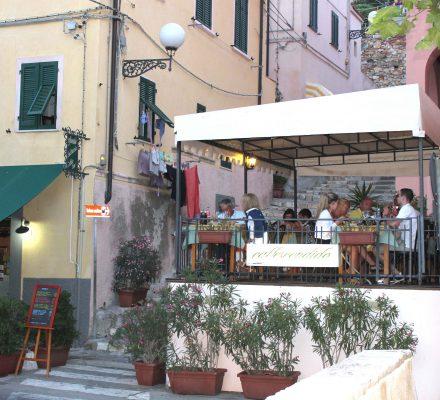 Restaurant i byen Portoferraio, Elba