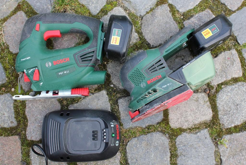 El-værktøj fra Bosch med lithuim batteri