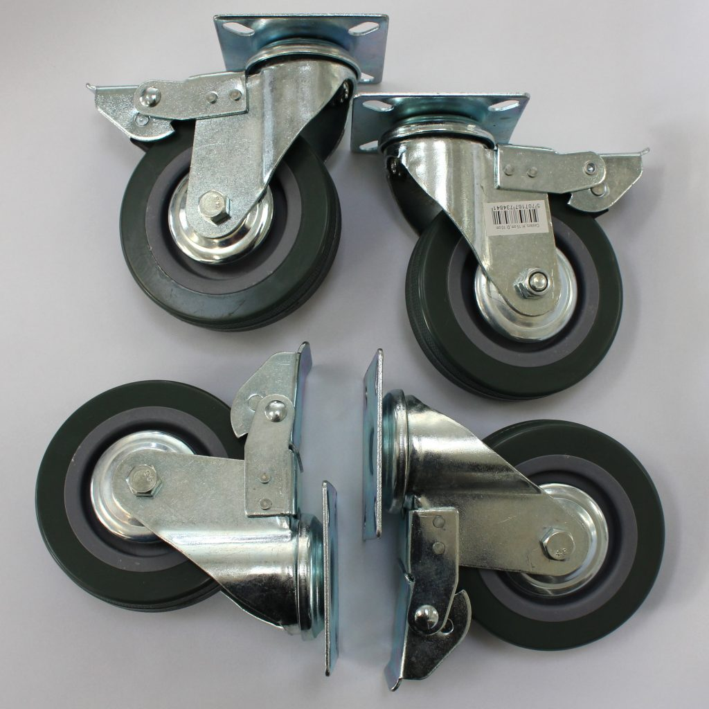 møbelhjul med bremse 4 stk 149,95