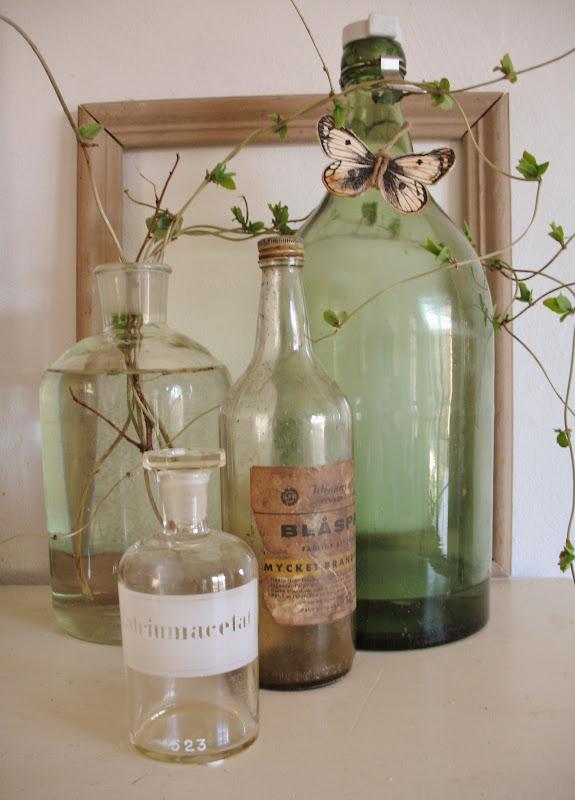 flasker, grene og forår