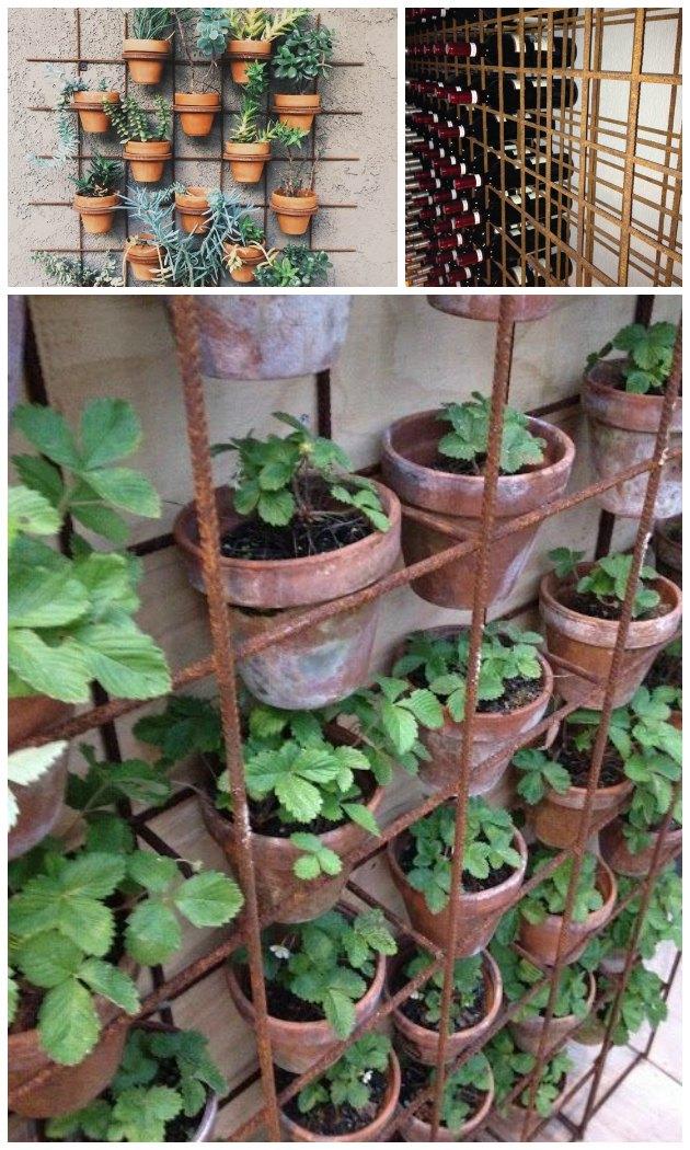 Rionet   sådan kan det bruges til vinreol og til en blomstervæg ...