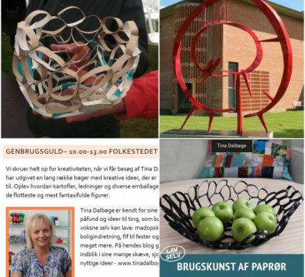Kreativt genbrugsguld med Tina Dalbøge til Aarhus Festuge i Folkehuset 2013