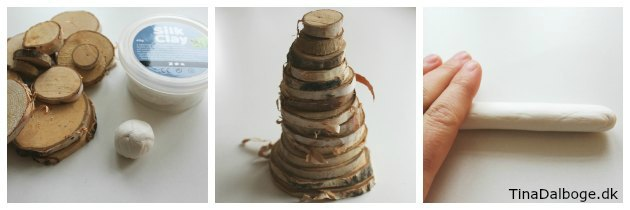 Lav træ af træskiver og silkclay