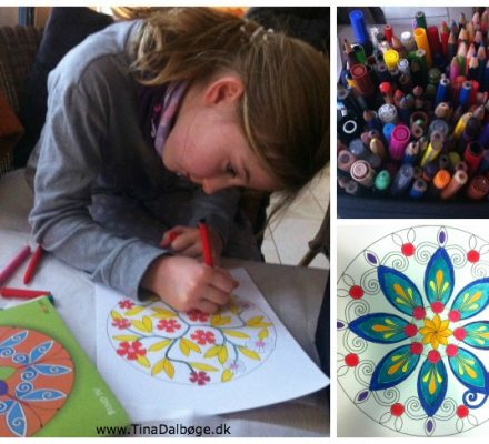 Find ro ved at male Mandalas malebøger