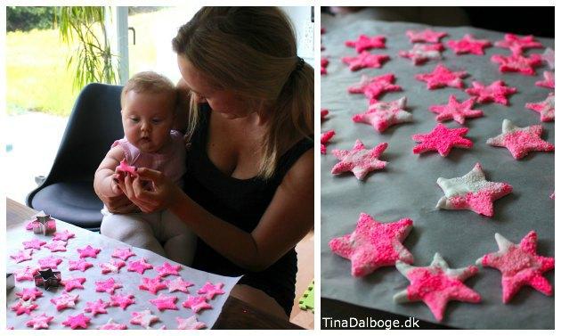 Pynt til barnedåb med stjerner i foam clay og silk clay - ide fra Tina Dalbøges kretive blog og materialer fra Kreahobshop.dk-2