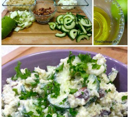 Quinoasalat med frugt og feta