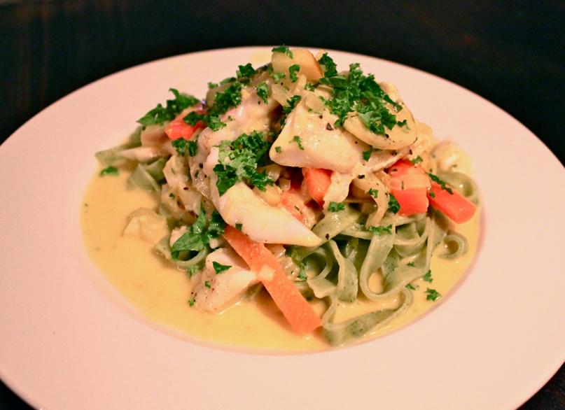 torsk og pasta