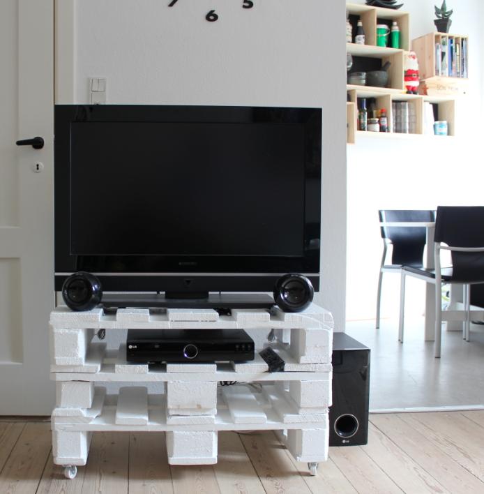 Bogkasser på væggen, idé med tv palle bord og ledig lejlighed i ...