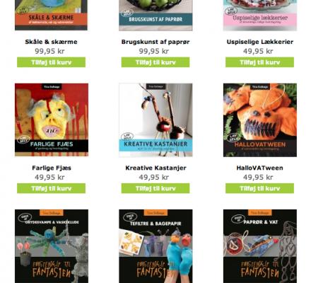 http://kreativepaafund.dk/ - kreative e-bøger