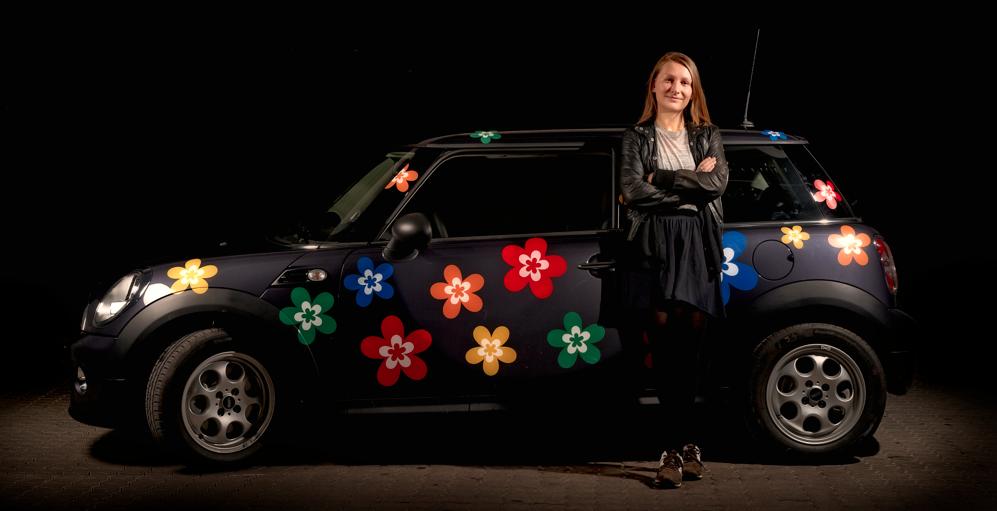 klistermærker til bil blomster