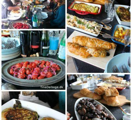 Sommermad serveret til en sommerfest på terrassen Tina Dalbøges kreative blog