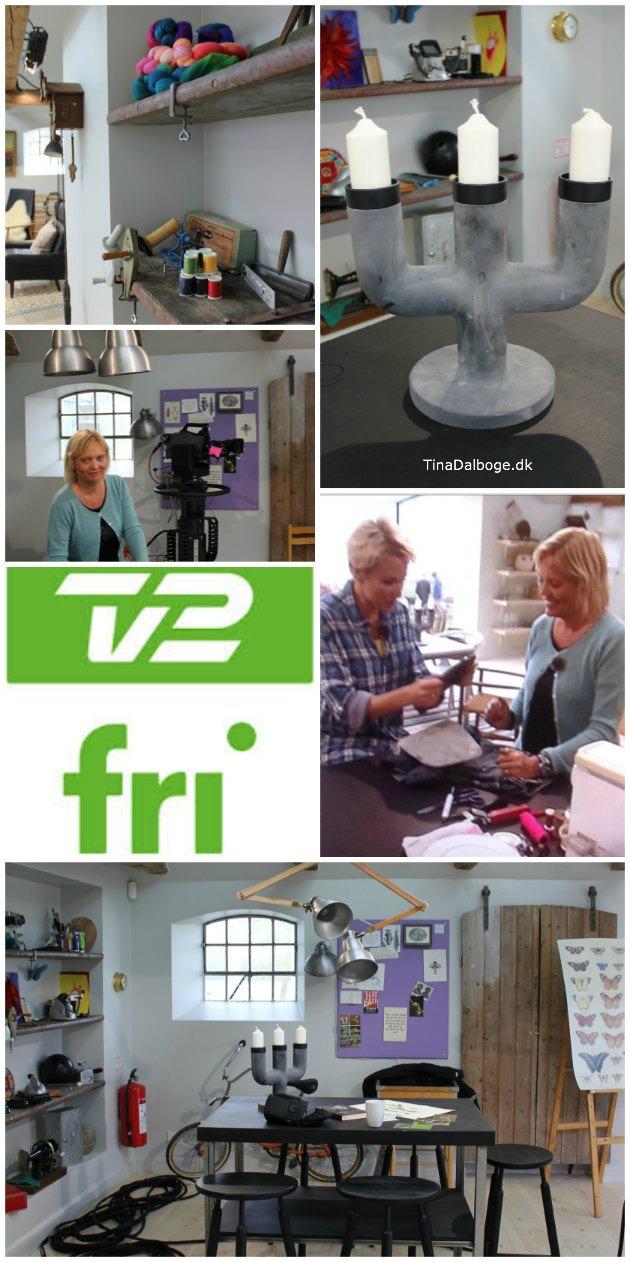TV2 fri - Tina Dalbøge laver grydelapper af cowboybukser
