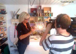 Tina Dalbøge i DR1 program fra yt til nyt lampeskærm af plastflasker