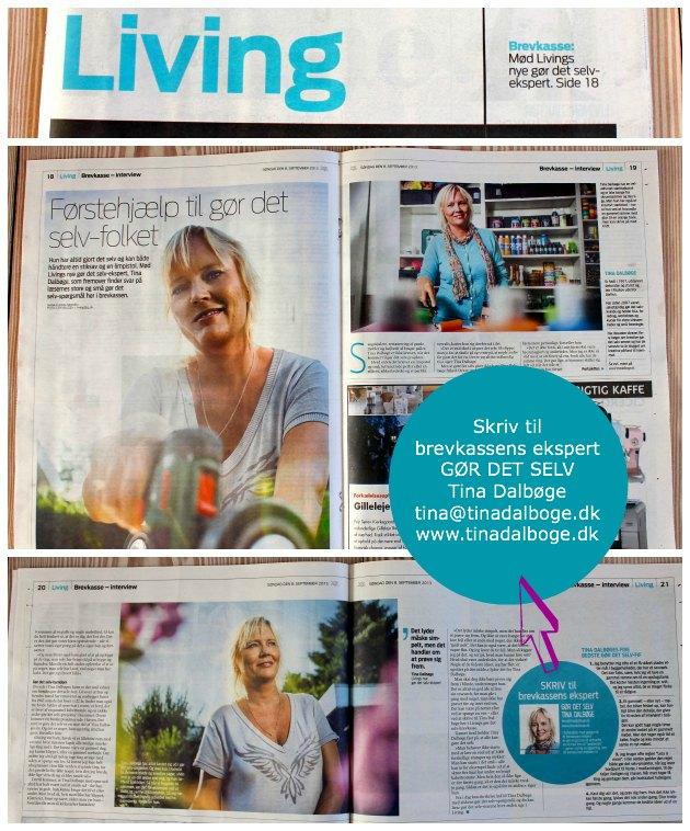 Tina Dalbøge ny gør det selv brevkasse ekspert i JP Living
