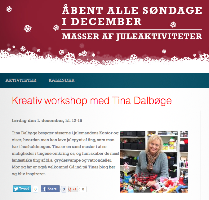 Tina Dalbge holder kreativ workshop i Bloms