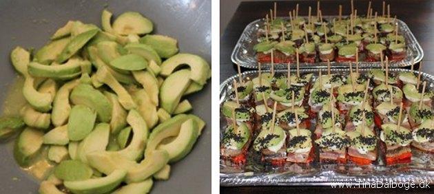 Tapas med tun og avokado