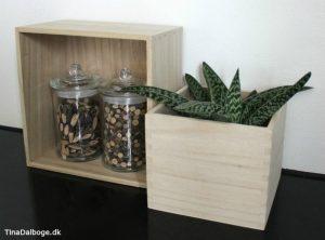 Trækasser til planter og opbevaring fra kreahobshop