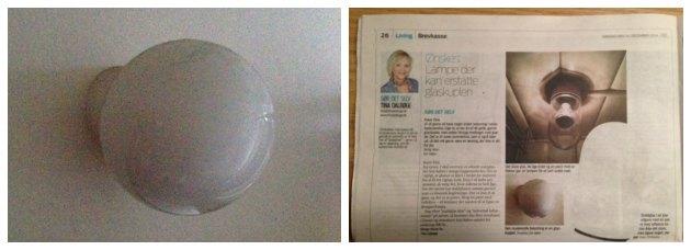 alternativ til en glas-kuppel lampe i badevaerelse