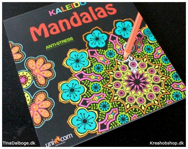 antistress malebog fra mandalas til farveblyanter fra kreahobshop