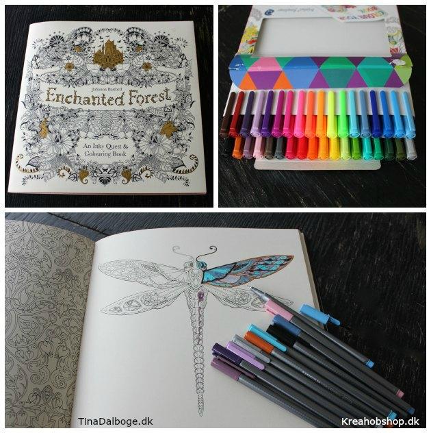 antistress malebog og tuscher der er gode at tegne med