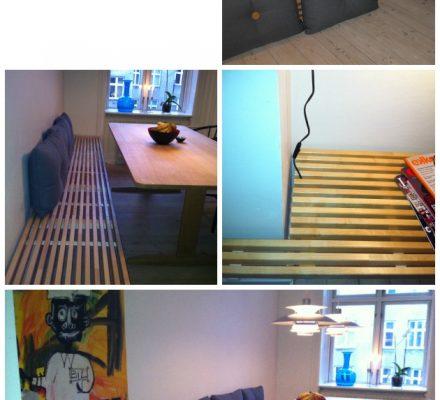Bænk af sengegavl fra IKEA