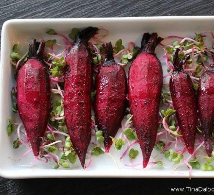 bagte rødbeder med hvidløg