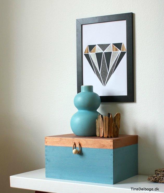billede til væggen med diamant collage