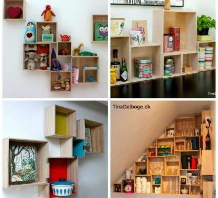 billige bogkasser - opbevaringskasser fra Tina Dalbøges webshop Kreahobshop.dk