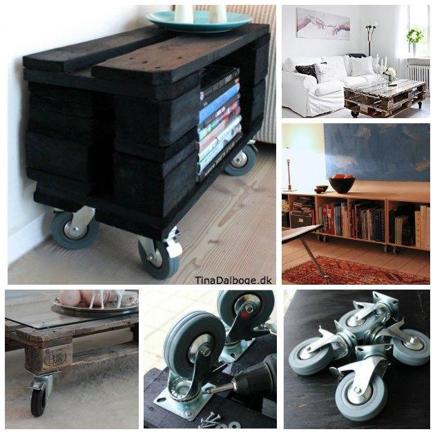 billige møbelhjul med bremse fra Tina Dalbøges Kreahobshop.dk