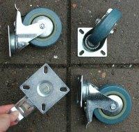 billige møbelhjul med bremse 4 stk dkk 169,95