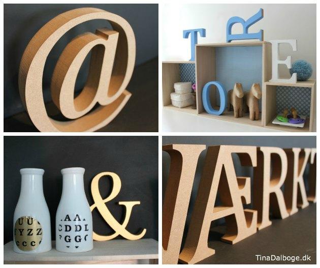 bogstaver til dekoration udskåret i mdf