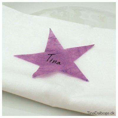 bordkort af udstansede stjerner fest