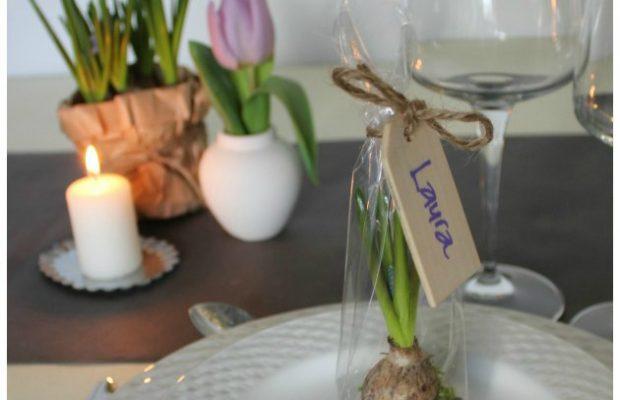 bordkort på cellofanpose til festlig og anderledes bordpynt materialer fra kreahobshop