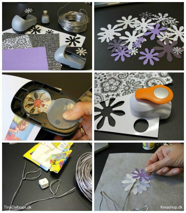 diy blomster til bordkort og bordpynt