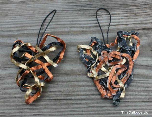 Lav selv julehjerter af alutråd